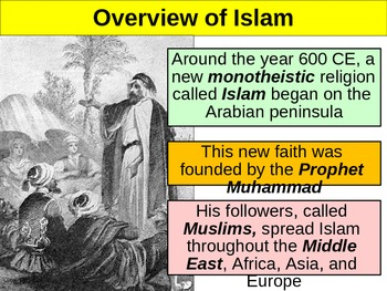 UNIT 3 LESSON 2. Muhammad and Islam POWERPOINT