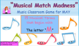 "15 Musical Terms for May & ""Musical Match Game"""