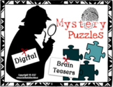 15 Mystery Puzzles - Brain Teasers - STEM Project - Team B