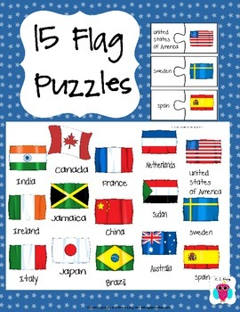 15 National Flag Puzzles