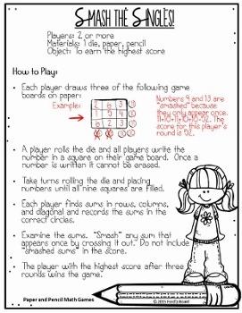 15 No Prep Math Games