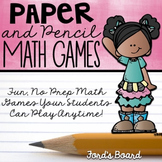 Distance Learning | 15 No Prep Math Games | 15 No Prep Math Centers