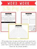 15 No Prep Word Work Activities