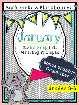 15 No Prep Writing Prompts January- Upper Level