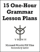 15 One-Hour Grammar Lesson Plans or Activities