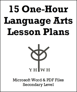 15 One-Hour Language Arts Lesson Plans or Activities