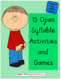 15 Open [Vowel] Syllable Activities & Games
