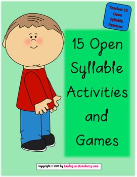 15 Open [Vowel] Syllable Activities & Games