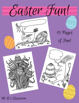 15 Pages of Easter Fun! Printable Coloring Sheets and Communication Bubbles
