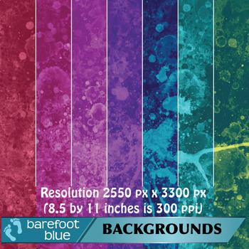 15 Paint Splatter Abstract Backgrounds/Digital Papers/Printables
