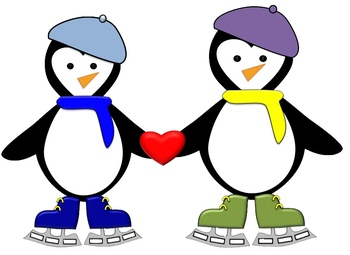 15 Penguins and 6 Snowflakes Clip Art in png format with transparent backgrounds