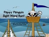 "15 Peppy Penguin ""I Spy"" Sight Word Hunts {all 40 pre-primer Dolch words}"