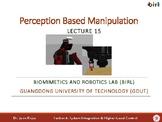 15. Perception-based Manipulation