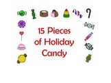 15 Pieces of Holiday Candy Clip Art -  Large