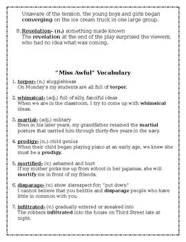 16 Popular 7th Grade ELA Stories Vocabulary Words with Example Sentences
