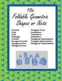 15 Print and Fold Geometric Shapes / Nets