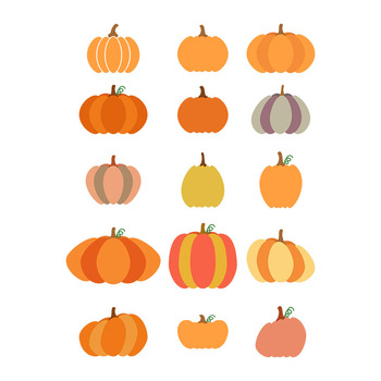 15 Pumpkins Clipart, Pumpkin SVG, Fall Clipart, Halloween Clipart, Autumn SVG