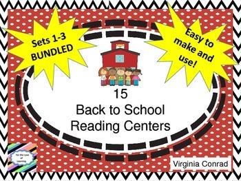 Back to School Literacy Centers BUNDLE