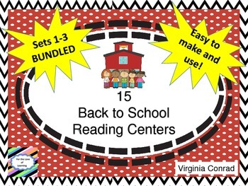 Back to School Literacy Centers BUNDLE