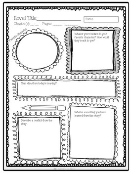 15 Reading Reflection Sheets for any story