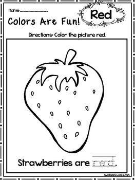 15 Red Colors Are Fun Printable Worksheets. Preschool-KDG. Color ...
