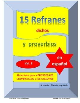 15 Refranes proverbios y dichos en español - Volumen I