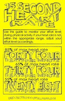Heart Rate Poster (PE, Health, Fitness, Freebie)