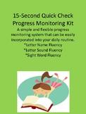 15 Second Letter/Sound Fluency Quick Check Progress Monito