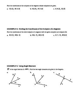 1.5 Segment and Angle Bisectors (A)