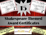 15 Shakespeare-Themed Award Certificates