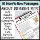 Pet Themed: 20 Short Reading Passages