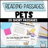 Fiction and Nonfiction Passages Pet Themed | Pet Reading Passages