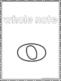 15 Single Music Notes Color Sheets. Preschool-2nd Grade Music.
