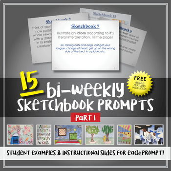 15 Sketchbook Prompts - Examples Included - Part 1