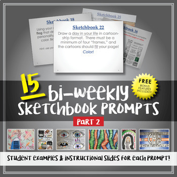 15 Sketchbook Prompts - Examples Included - Part 2