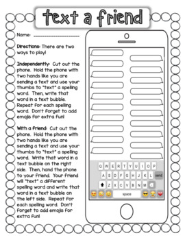 15 Spelling and Vocabulary Word Work Activities / Centers