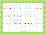 15 Spring Themed Alphabet, Numbers, and Shapes Tracing Worksheets.