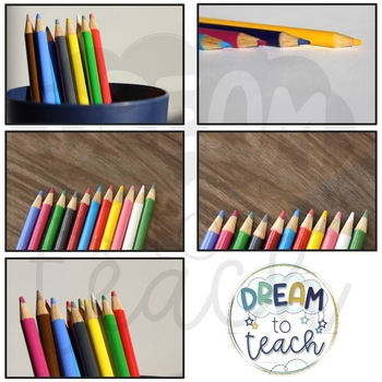15 Stock Photos - Colored Pencils - [Commercial & Personal Use]