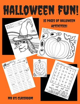 15 Super Fun Halloween Printable Worksheets and Activities!
