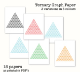 15 Ternary Graph Papers - Triangular Graph Paper - Digital Graph Paper, PDF