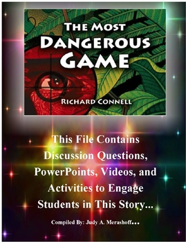 The Most Dangerous Game by Richard Connell Teacher Supplemental Resources