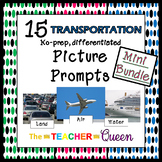 15 Transportation No-prep, Differentiated Picture Prompts