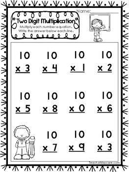 15 Two Digit Multiplication Printable Worksheets. 2nd-4th ...
