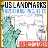 USA Landmark Brochure Research Projects Activity, Foldables, Geography