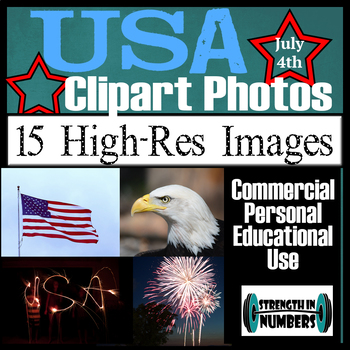 15 USA Patriotic July 4th Photos Commercial Clip Art Photographs