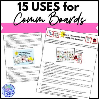 15 Uses for Communication Boards- Printable Guide
