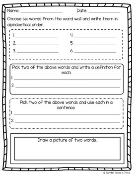 Vocabulary Graphic Organizers for Grades 2 - 4