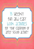 15 Weekly Books and Activities