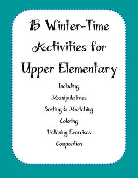 15 Winter Activities for Upper Elementary