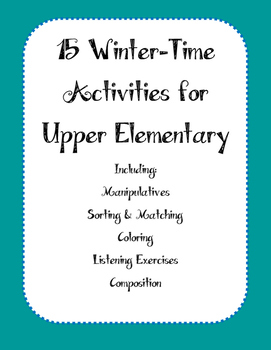 15 Winter Activities for Upper Elementary